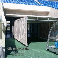 テントはスタジアムでも大活躍。