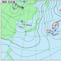 1月17日 アメダスと天気図。