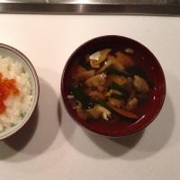 いくらご飯とシジミ汁