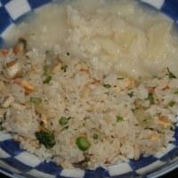 2月18日  舞茸炒飯の カリフラワーの シチューがけ