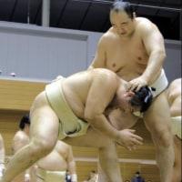 「38歳・安美錦+35歳・里山=合計73歳ぶつかり稽古」とのニュースっす。