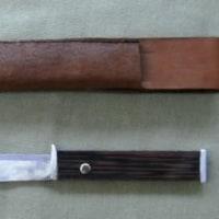 小型ナイフ、革ケースの製作