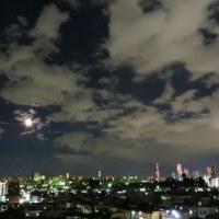 お月様と夜景