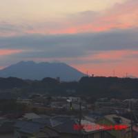 2017年02月22日、朝の桜島