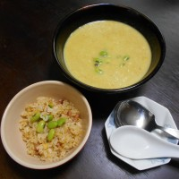 カレー味の おからスープ