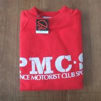 ニッサンケンメリ時代 PMC・S と描かれたスエット・トレーナー 女性用フリーサイズ(赤)