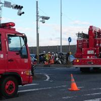 悲惨の交通事故現場
