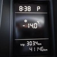 寒いと思ったら、マイナス14℃