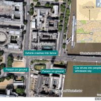 英議事堂の外で襲撃、容疑者含め4人死亡 少なくとも20人負傷