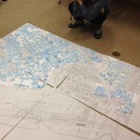 酒田市街地模型