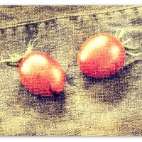 トマトとデニムで二重露光+クラシカルにしてみた