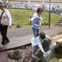 次男家族の来訪6)京極のふきだし公園