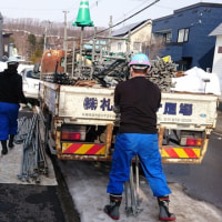 札幌市南区常盤5条2丁目 足場工事完了