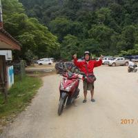 オートバイひとり旅・東南アジア・ラオス・ヴェンヴェインでレンタルバイクで走ってみた