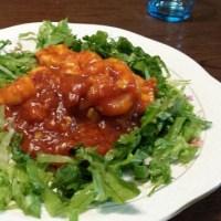 11/25の夕飯(海老のチリソース炒め&回鍋肉)