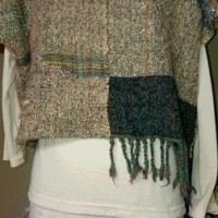 山の家から~~手紡ぎの糸の織り布