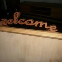 welcomeボード・・・