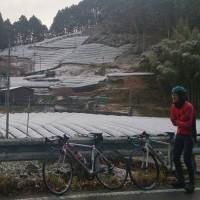 初雪ライド(冬休み練2)