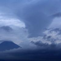 富士山 水墨画の...