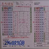 今日のゴルフ挑戦記(98)/新千葉CC「たちばな」イン→アウト(ベント)