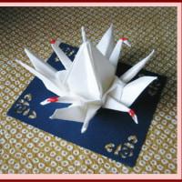 四羽の鶴が・・・