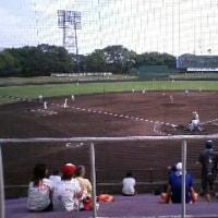 全国高校野球京都大会、少し観戦
