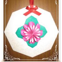 折紙で可愛い壁掛け