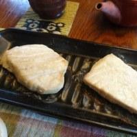 お昼ご飯はグリルプレートでクロカジキ塩焼き