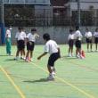7年生がブラインドサッカーの体験!