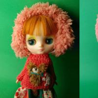 ミディちゃんのサーモンピンク・フォークロアセット