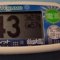 今朝の血糖値です。
