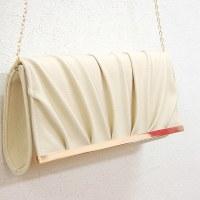 パーティーバッグ252 結婚式のクラッチバッグ 袱紗が入る少し大きめサイズ フェイクレザーのシンプルなハンドバッグ