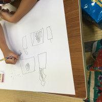 絵の教室(夏休み宿題)