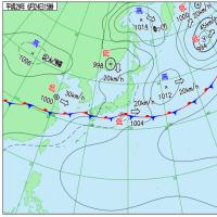 6月24日 アメダスと天気図。