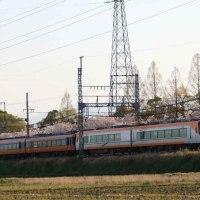 春の夕暮れを行く ・ 近鉄橿原線(奈良県)