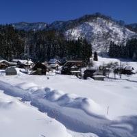 豪雪地帯の部落