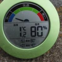 平成29年3月23日・今朝の東祖谷1.2℃