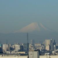 足立区から眺めた富士山