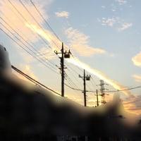 夕焼け雲・・・