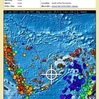 南太平洋フィジーの南でM7・2大地震→QZSS4機・島サミット