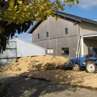 自家製堆肥の仕込み