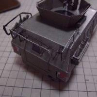 フリーのペーパークラフト JGSDF Komatsu LAV(小松 軽装甲機動車)を作る_その4