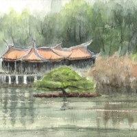 新宿御苑の台湾閣