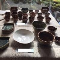 陶芸の展示会に自作の器とか皿を出してみた
