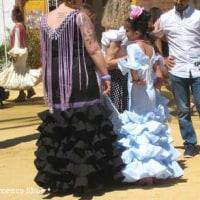 スペインの写真【フェリア・デル・カバジョ2016ヘレス】フラメンコ衣装vol.2 お祭り、子供のフラメンコ衣装