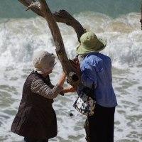 海へ・・・友達のおかあさんと