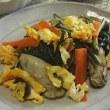 夕食は・・・ 牡蠣の炒め物