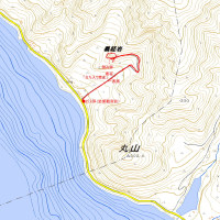 義経岩のGPSトラック