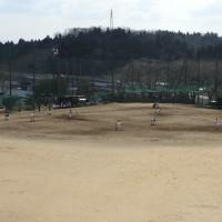 野球部、本校グラウンドで武生高校と練習試合