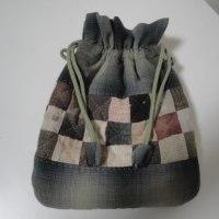 四角パッチのぷっくり巾着の作り方